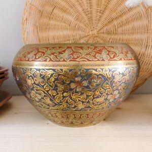 Vintage Ornate Brass Bowl